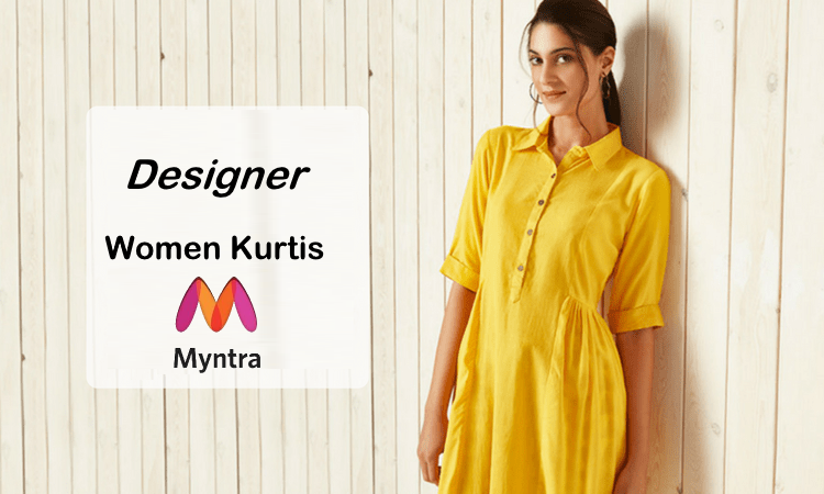 Beautiful Designer Women's Kurtis at Myntra